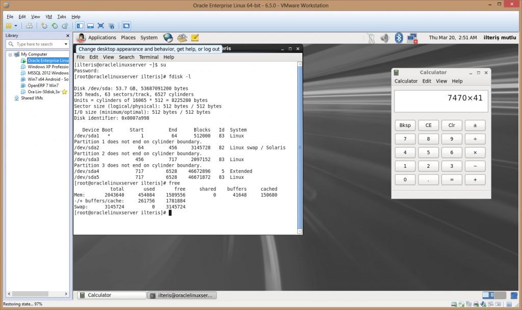 Canlı Snapshot (Disk+Ram)