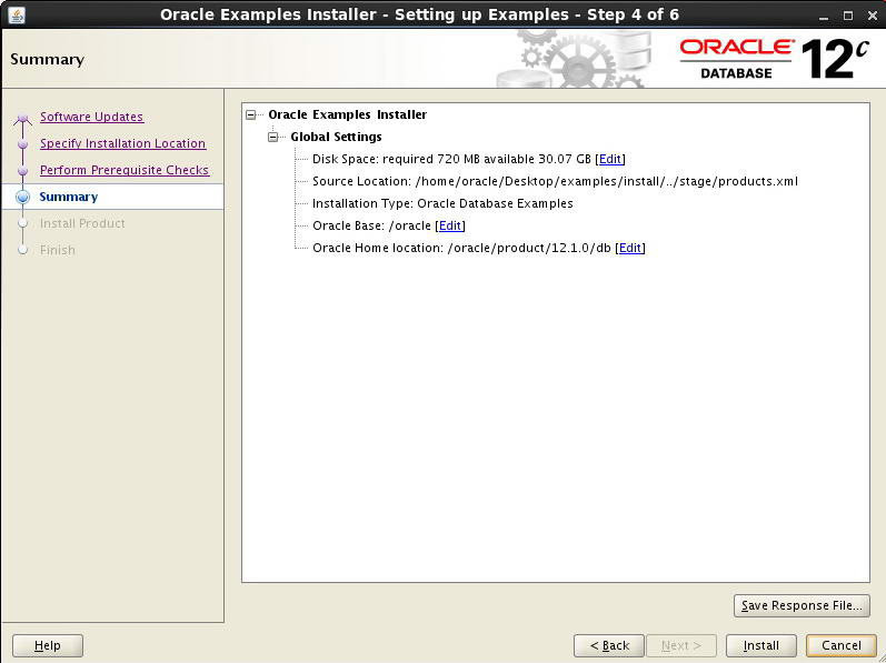 how to create database schema in oracle 12c