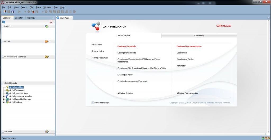 32- Oracle Data Integrator Studio 12c