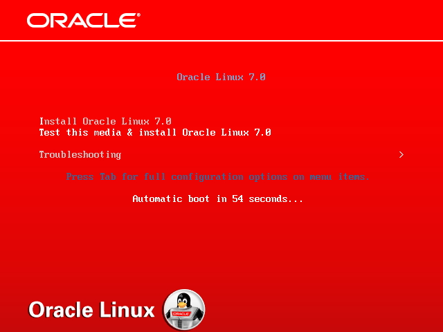 Install Oracle Linux 7.0