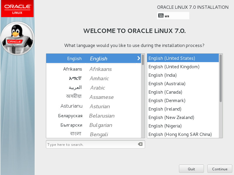 Welcome To Oracle Linux 7.0.