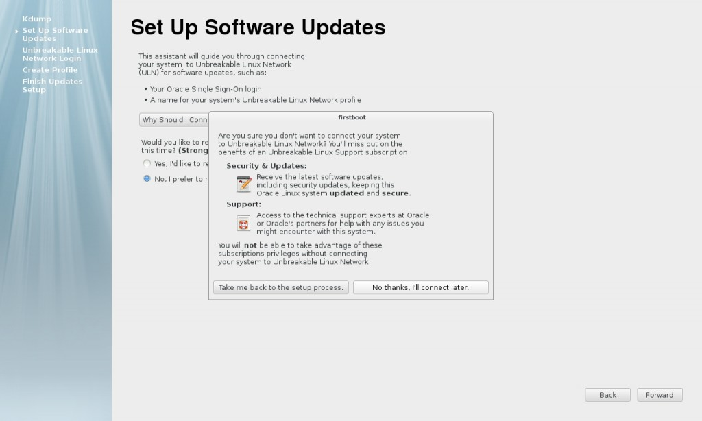 Set Up Software Updates - firstboot