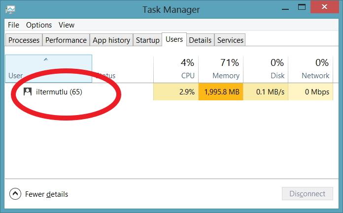 1-Windows Kullanıcıadı öğrenme