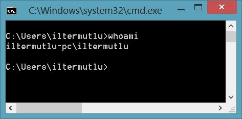 Bilgisayar Adı ve Kullanıcı Adı Öğrenme CMD