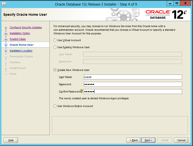 Oracle Home User